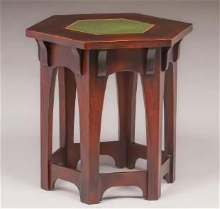 Contemporary Gustav Stickley Grueby Tile Top Table