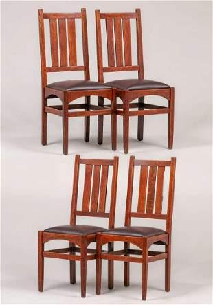Set of 4 Gustav Stickley - Harvey Ellis Dining Chairs