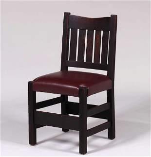 Early Gustav Stickley V-Back side chair c1902-03