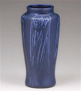 Rookwood Pottery Matte Blue Tulip Vase 1923