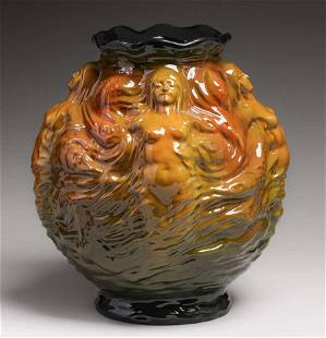Vance Avon Art Nouveau Mermaid Vase c1900-1905