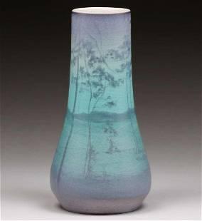 Rookwood Pottery Alice Craven Scenic Vellum Vase 1917