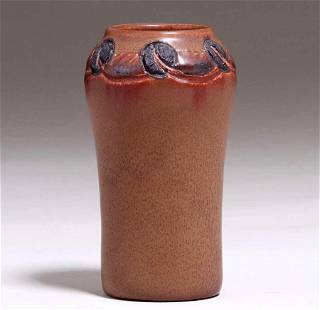 Rookwood Carved Matte Brown Vase Charles Todd 1917