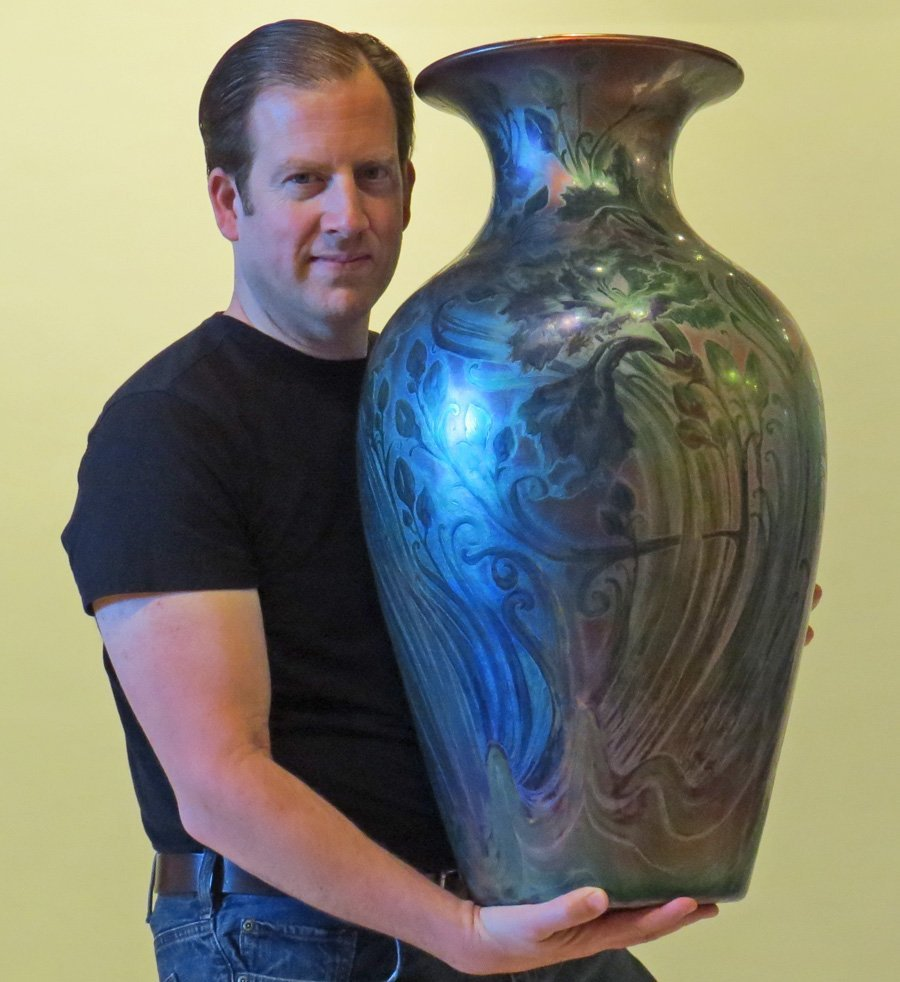 Huge Weller Sicard Floor Vase c1904