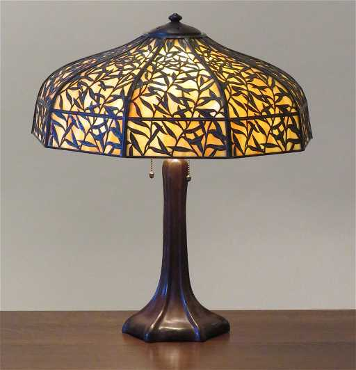 Michaels Craft Floor Lamp: Handel Bamboo Leaf Overlay Lamp