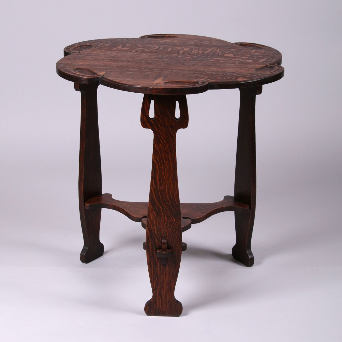 Charles Rohlfs Carved Lamp Table