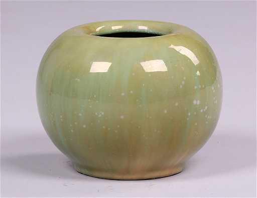 Fulper Vasecraft Green Spherical Vase
