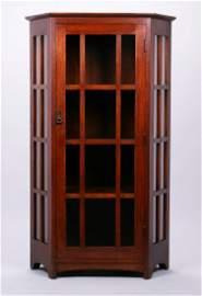Extremely Rare L&JG Stickley Corner Cabinet