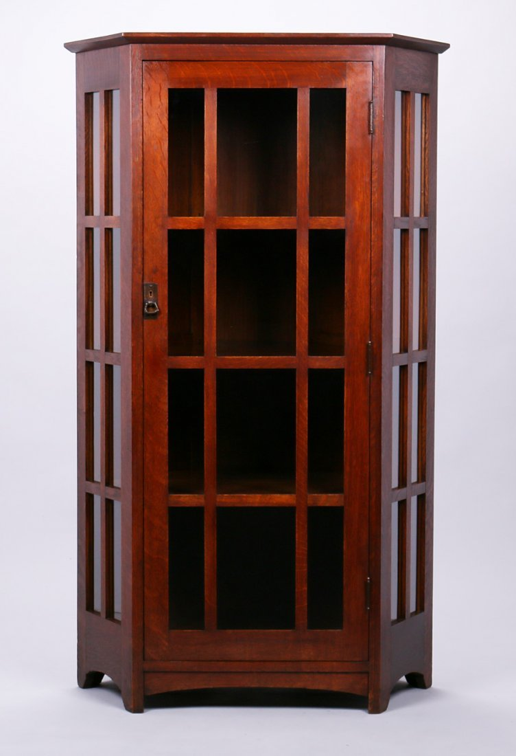 Extremely Rare L&JG Stickley Corner Cabinet
