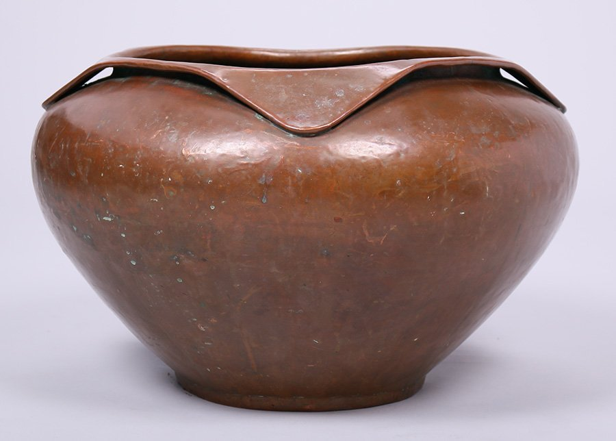 Huge Limbert Hammered Copper Jardiniere