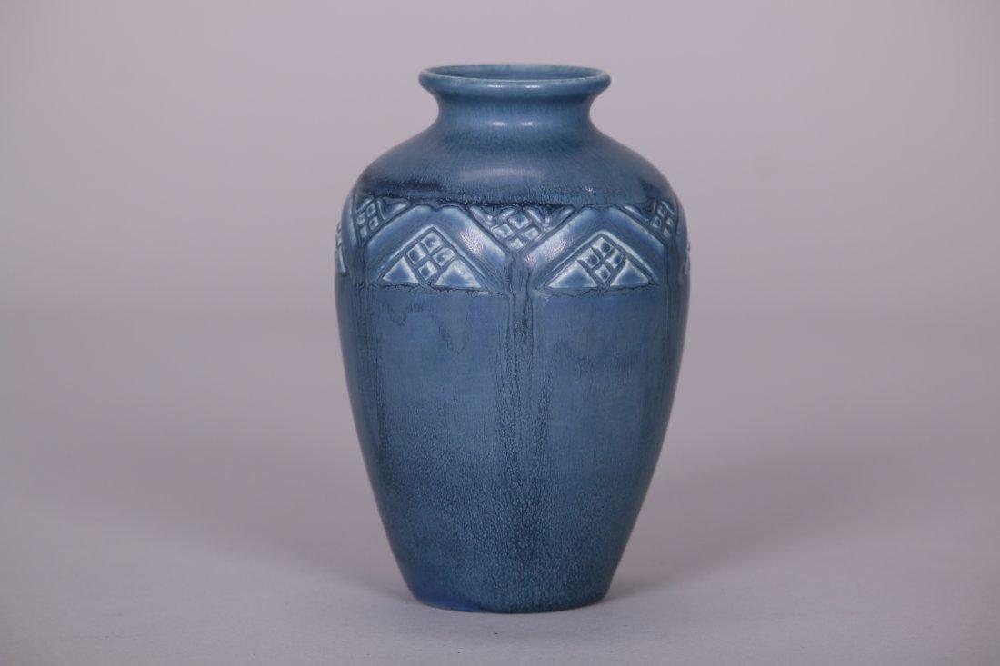 Rookwood Matte Blue Vase c1919 - 2