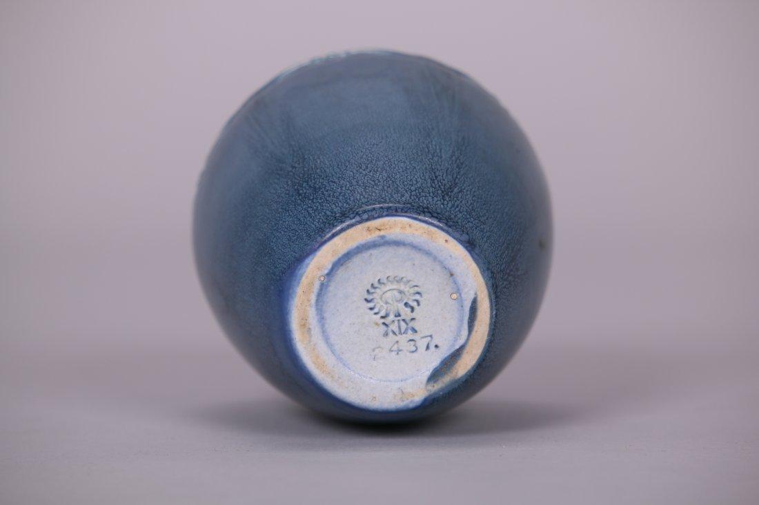 Rookwood Matte Blue Vase c1919 - 3