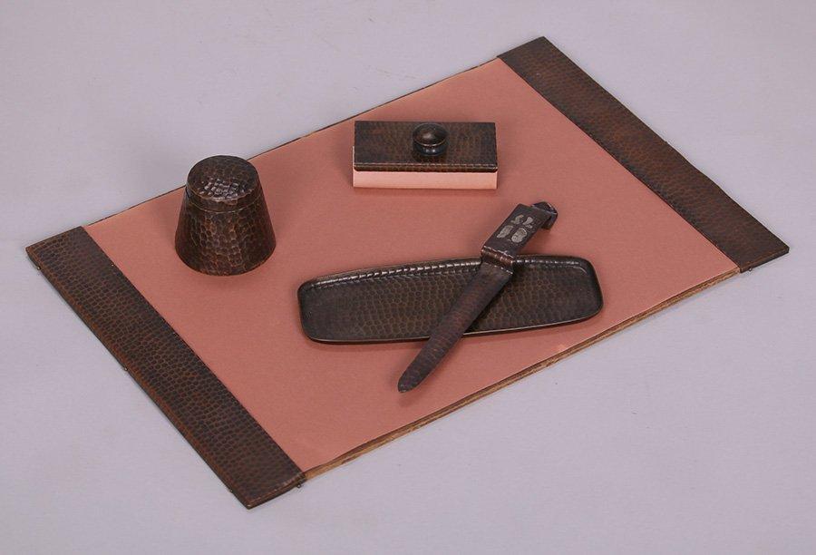 Craftsman Studios Hammered Copper 5-Piece Desk Set