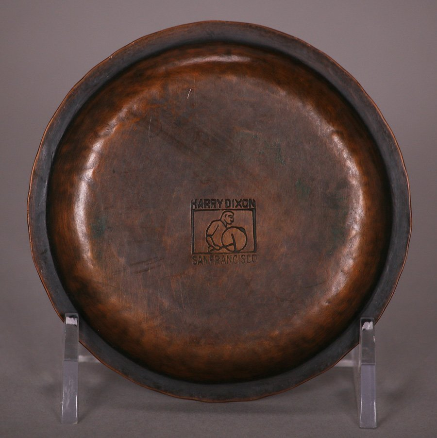 Small Harry Dixon Hammered Copper Tray