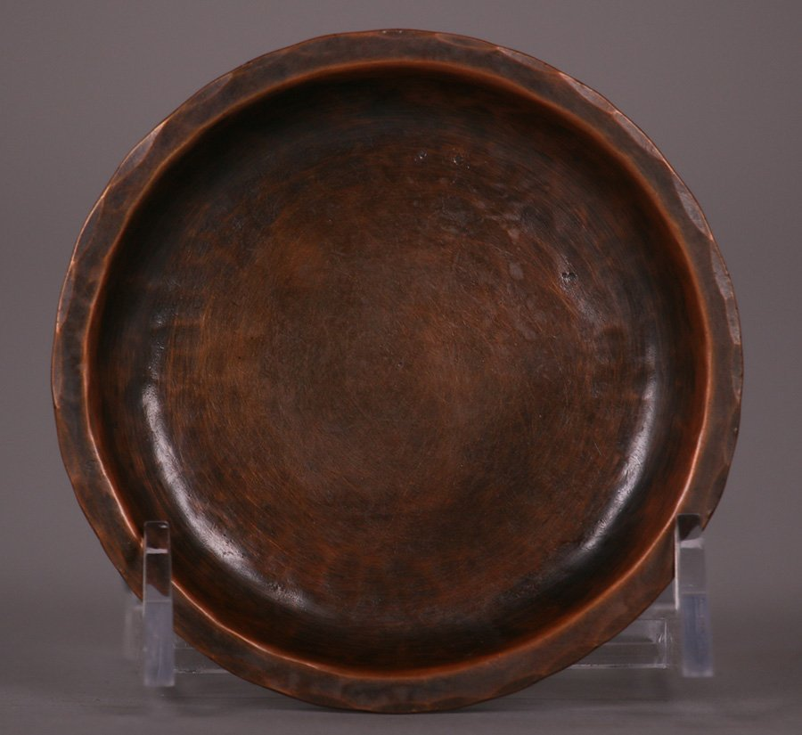 Small Harry Dixon Hammered Copper Tray - 2