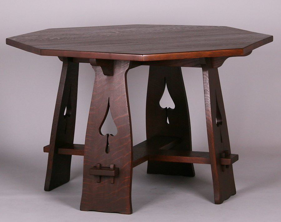 Limbert Spade Cutout Octagonal Table #120