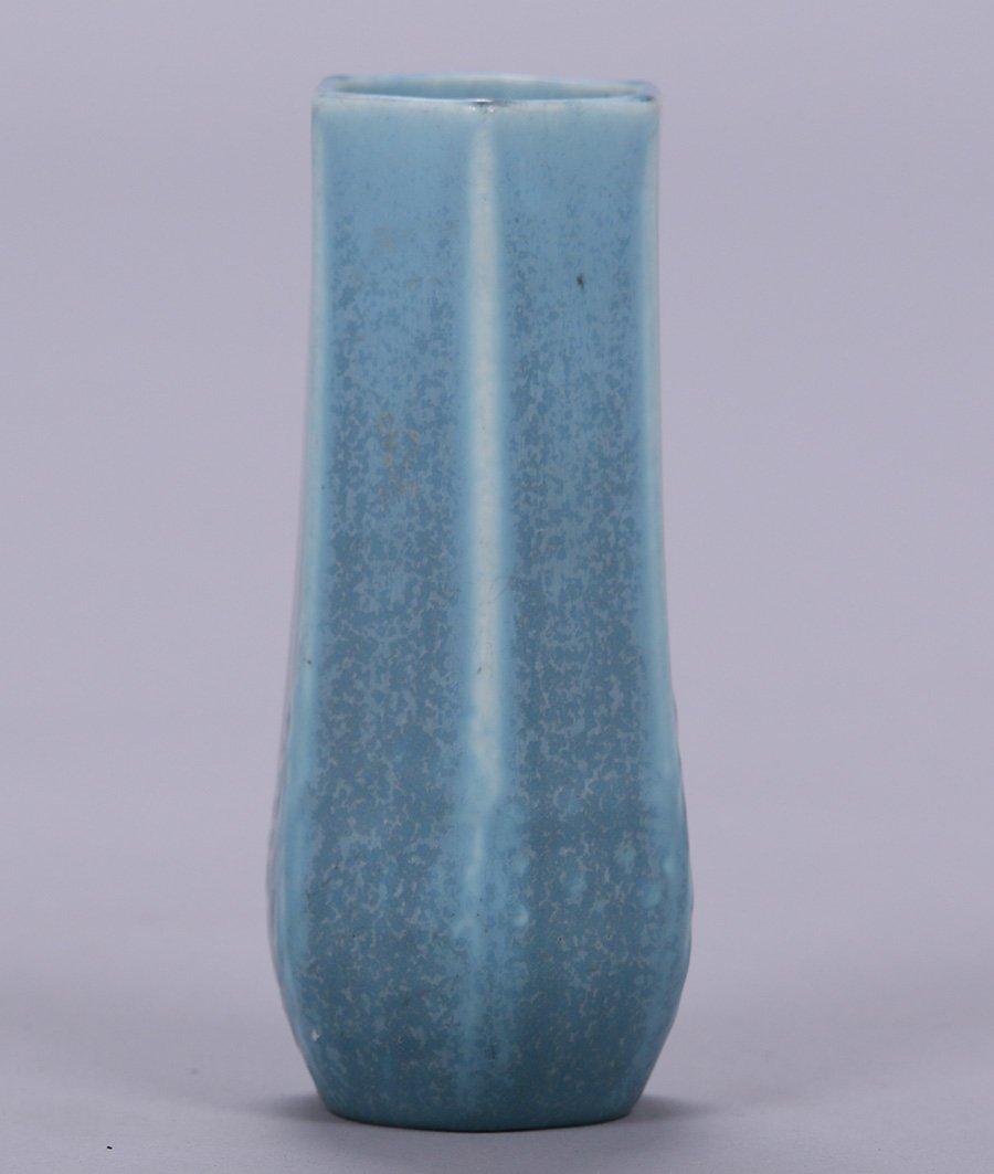 Rookwood 6-Sided Matte Blue Vase