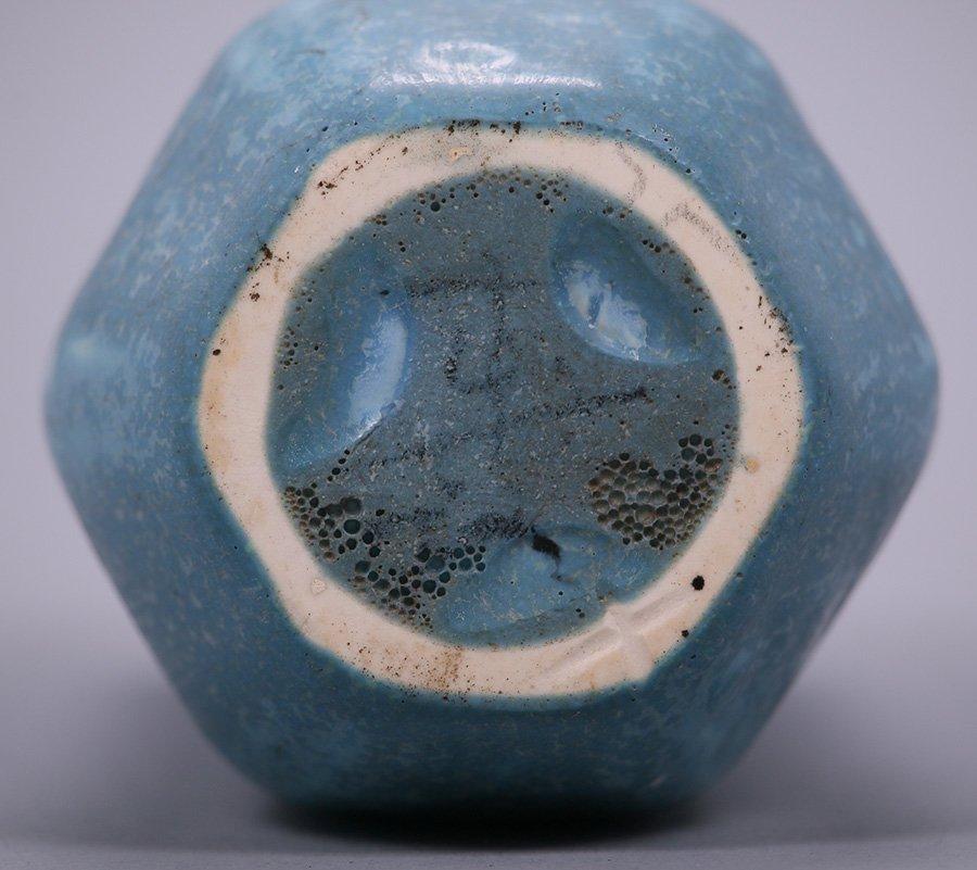 Rookwood 6-Sided Matte Blue Vase - 3