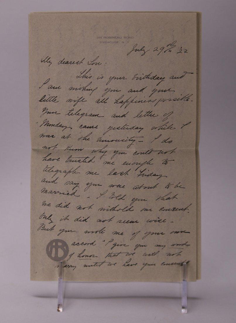 Adelaide Robineau Letters - 4