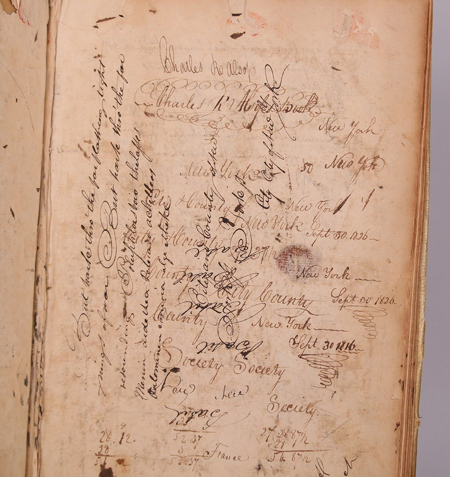 Rare Early 1820s Manuscript Alsop Family - 3