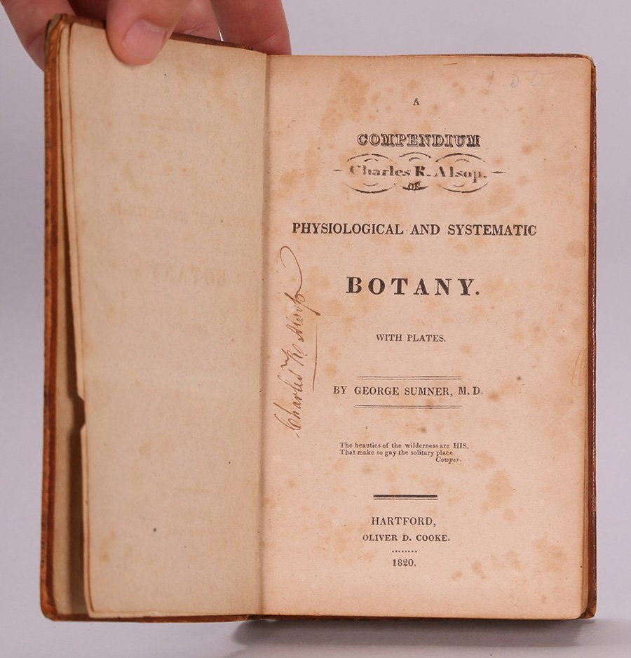 Antique Book: Botany by George Sumner 1820 - 5