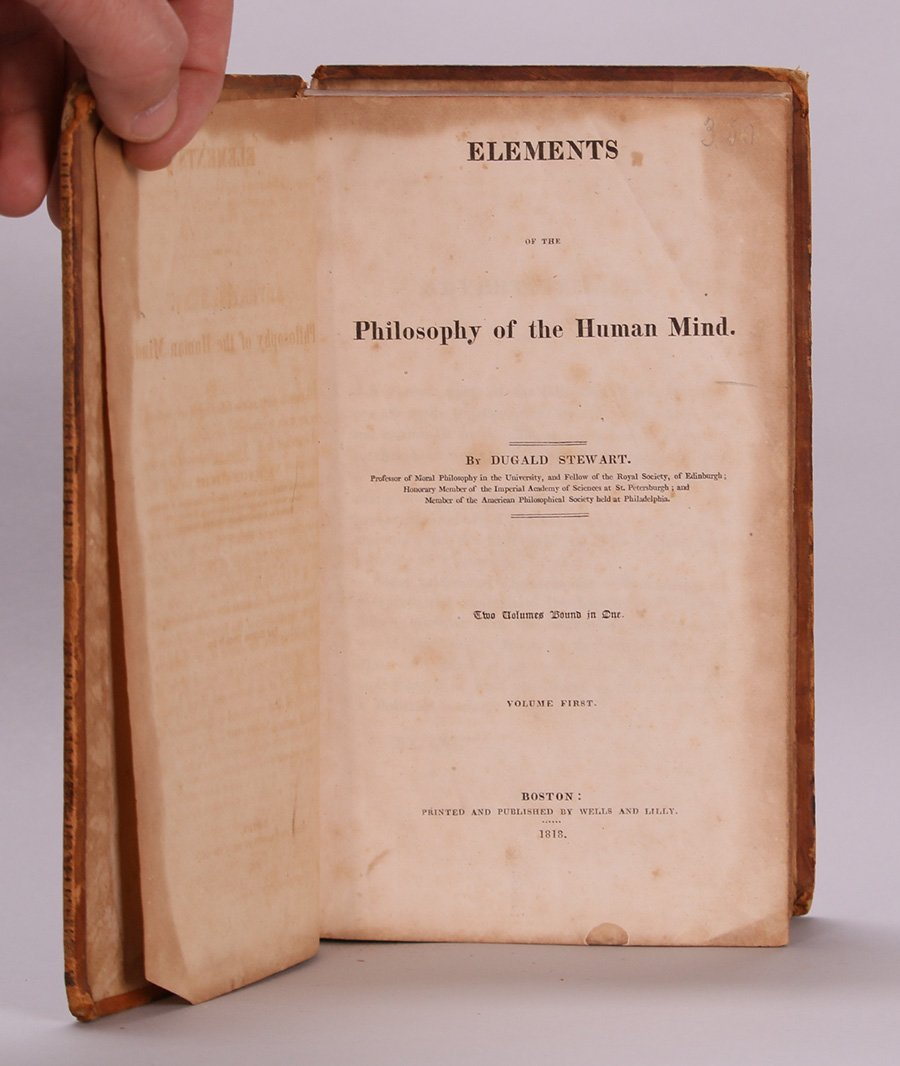 Antique Book: Philosophy of the Human Mind 1818 - 5