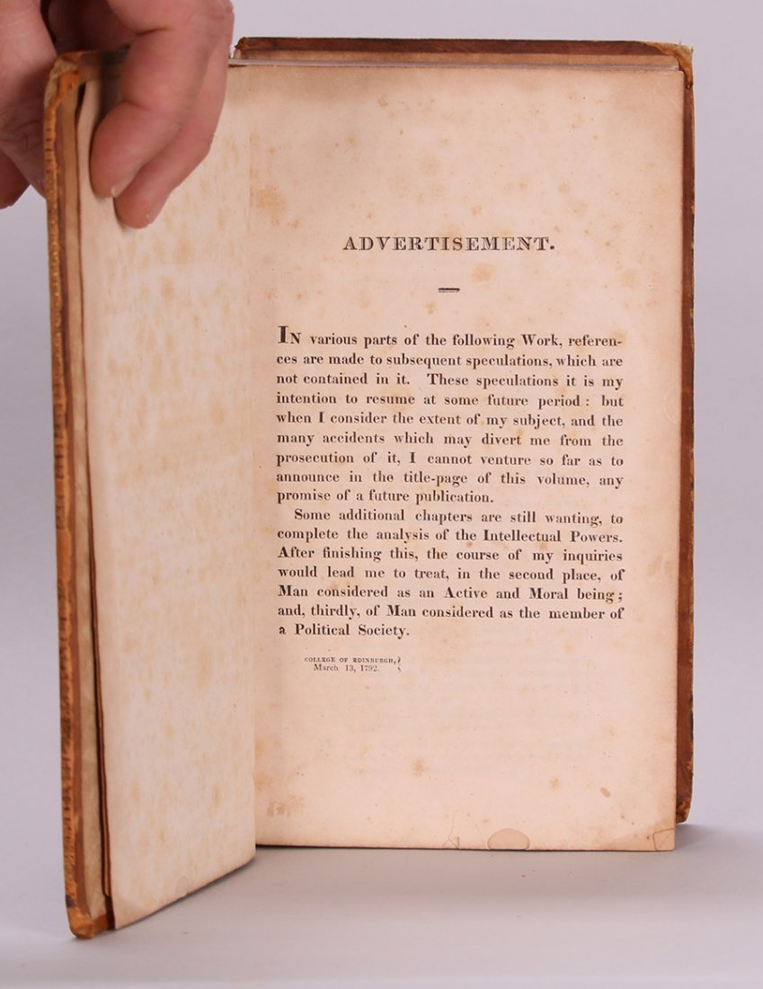 Antique Book: Philosophy of the Human Mind 1818 - 6