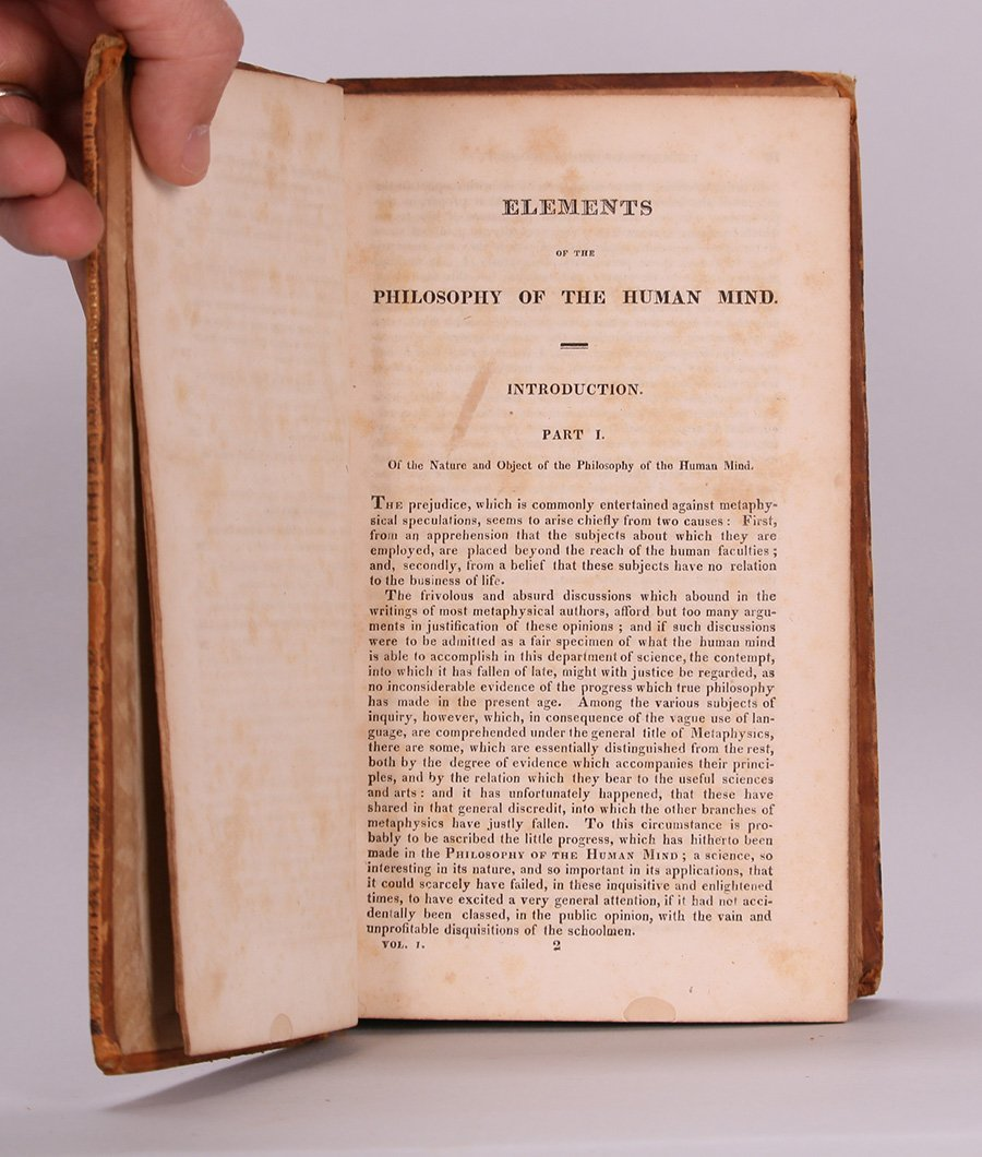 Antique Book: Philosophy of the Human Mind 1818 - 7