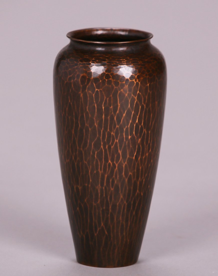 "Exquisite Roycroft Hammered Copper 6"" Vase"