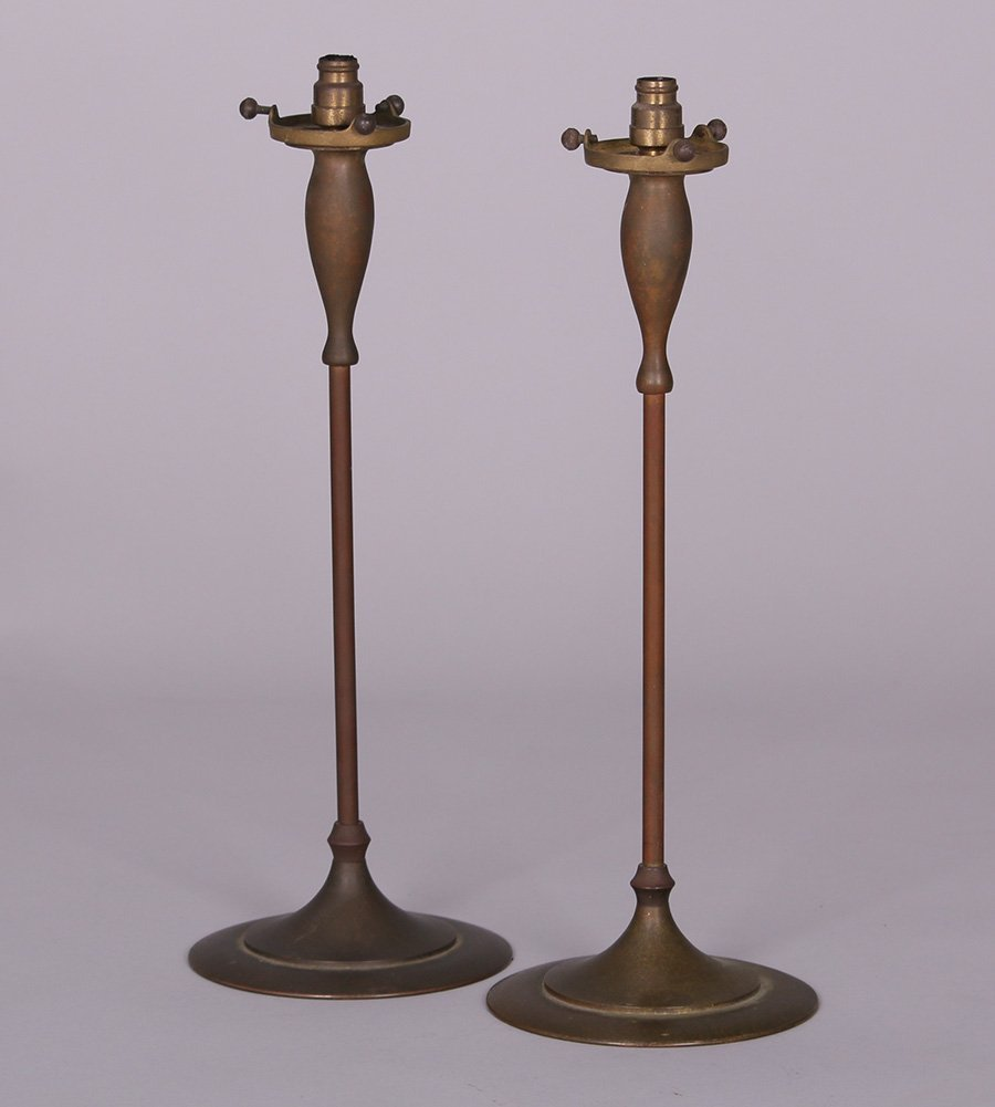 Pair of Tall Prairie School Candle Lamps