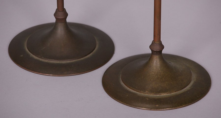 Pair of Tall Prairie School Candle Lamps - 3