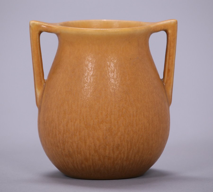 Rookwood Matte Brown Two-Handle Vase 1925