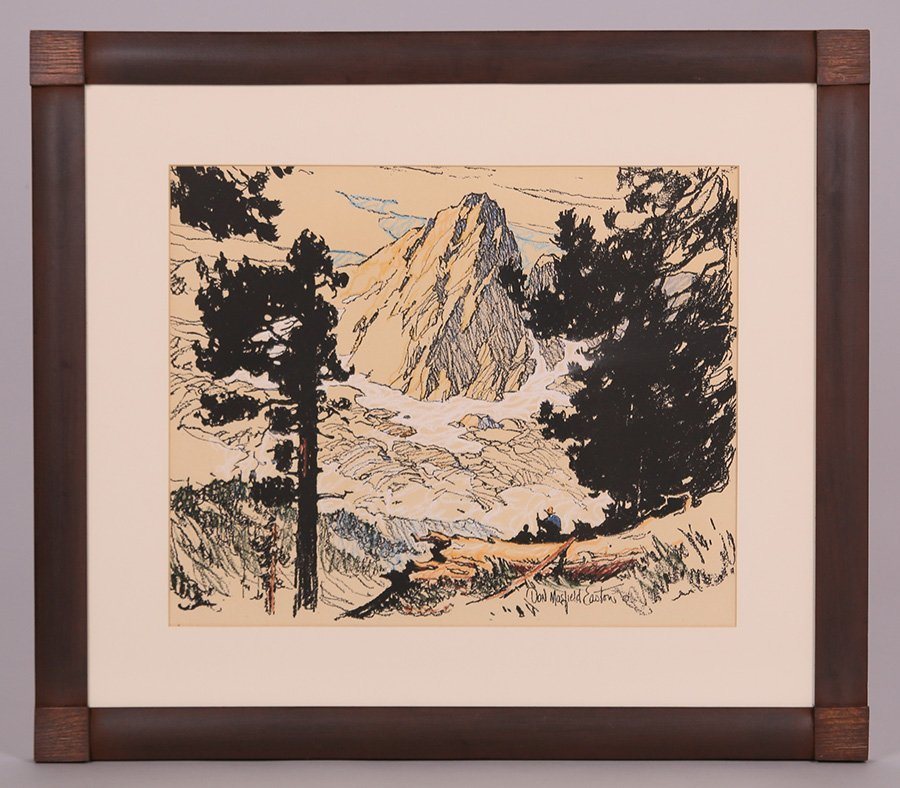 Donald Easton Hand-Colored Litho of Sierras - 2