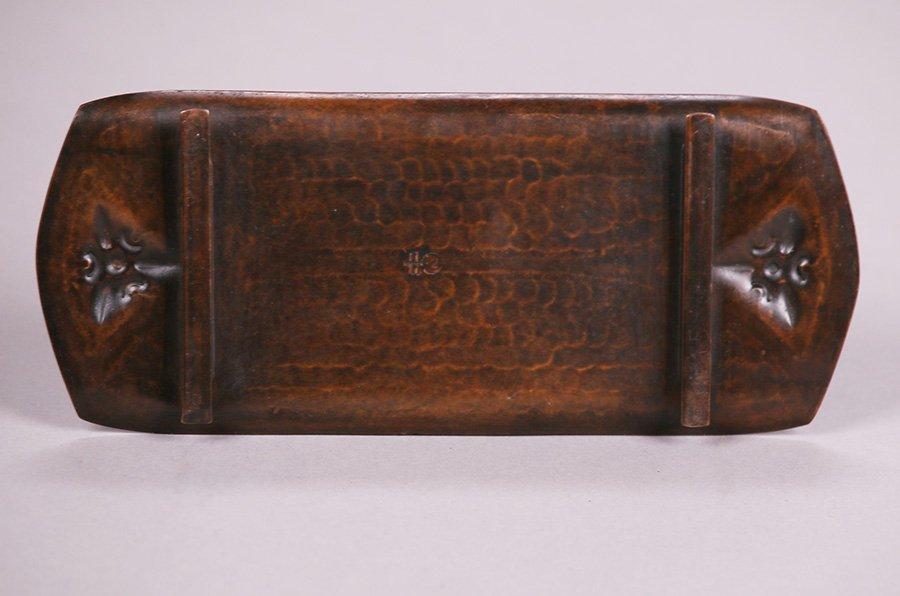Roycroft Hammered Copper Pen Tray - 3