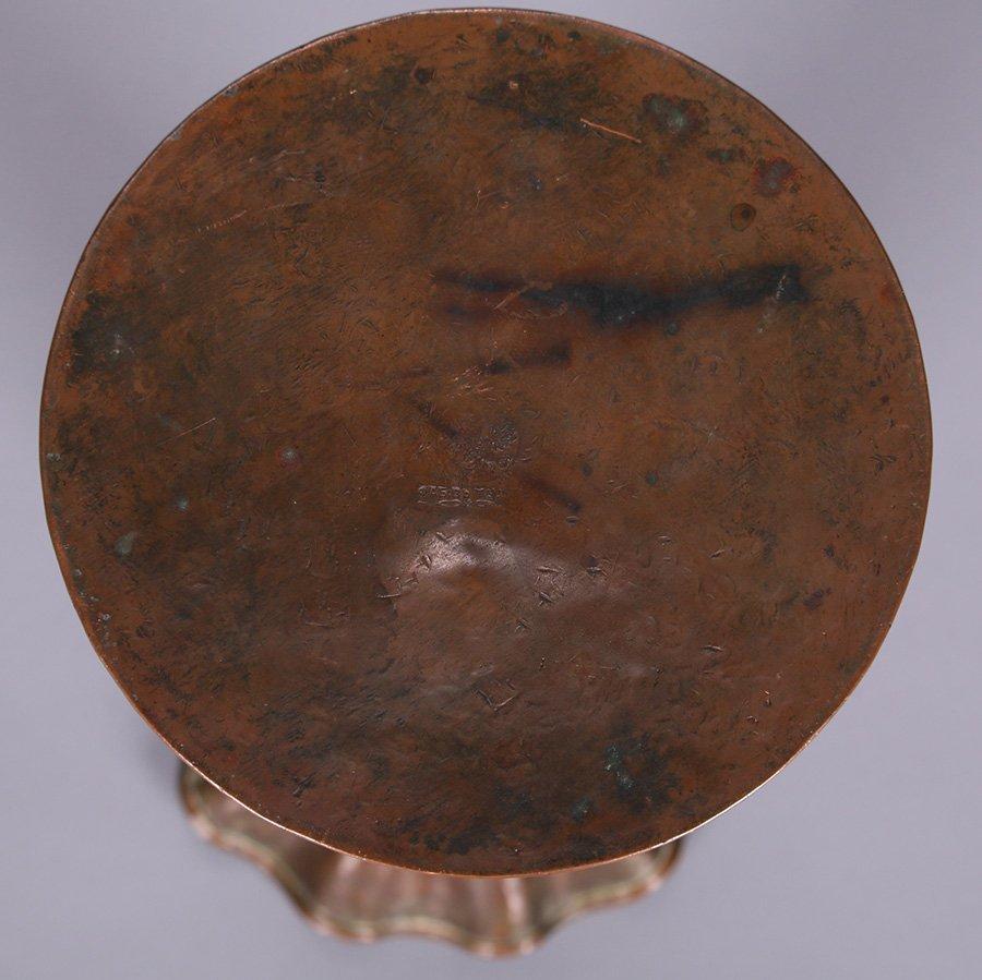 Russian Arts & Crafts Hammered Copper Vase - 3