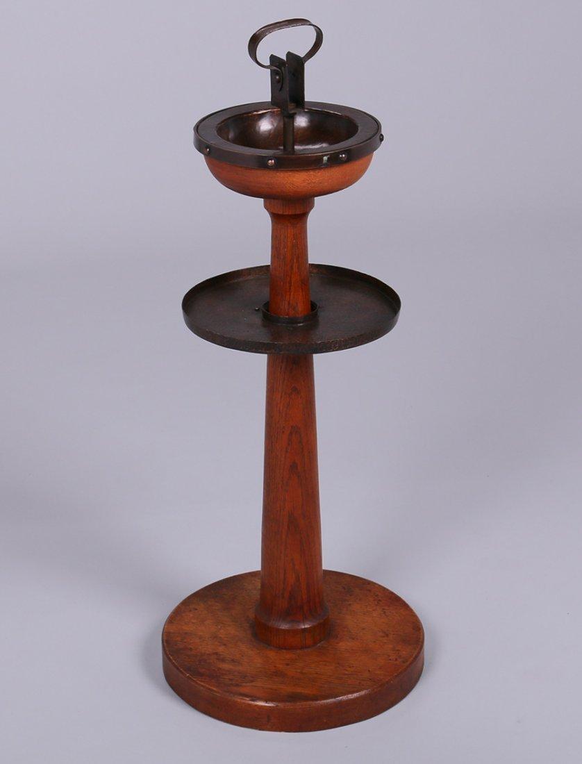 Roycroft Oak & Copper Standing Ashray