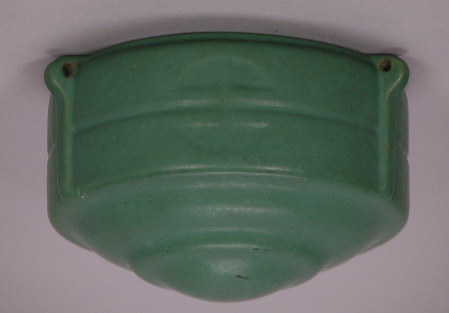 Roseville Matte Green Hanging Basket