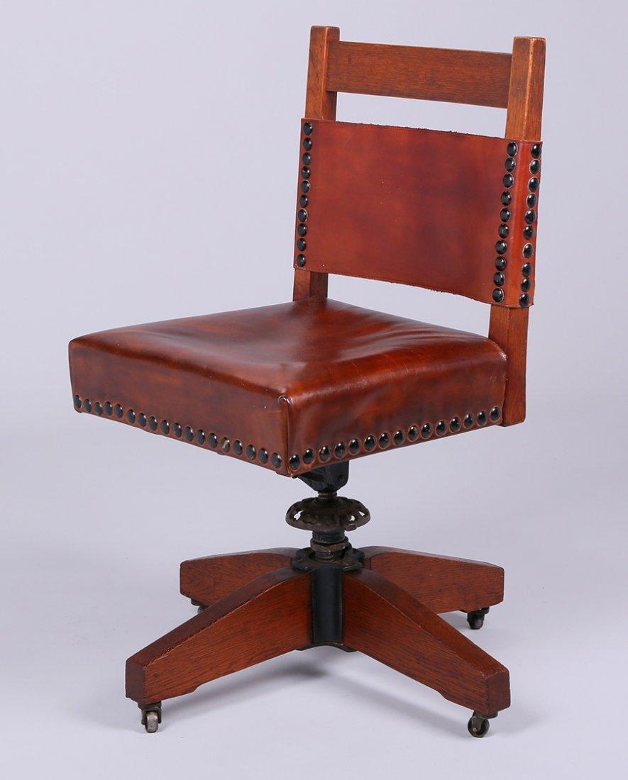 Gustav Stickley Swivel Chair