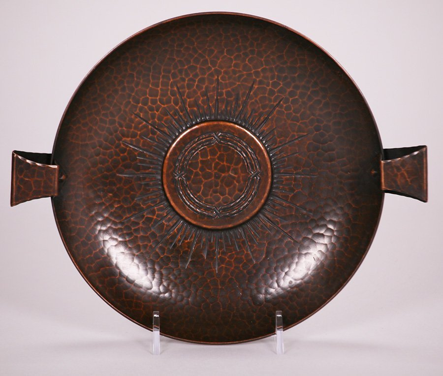Roycroft Hammered Copper Two-Handled Bowl