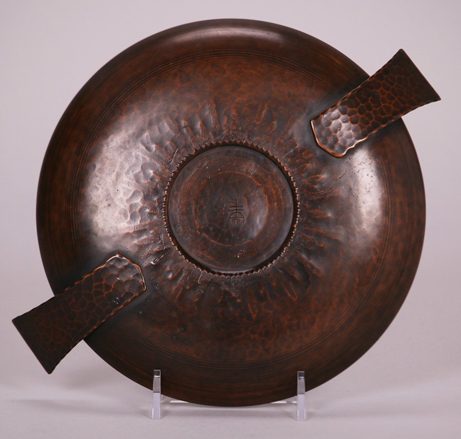 Roycroft Hammered Copper Two-Handled Bowl - 2