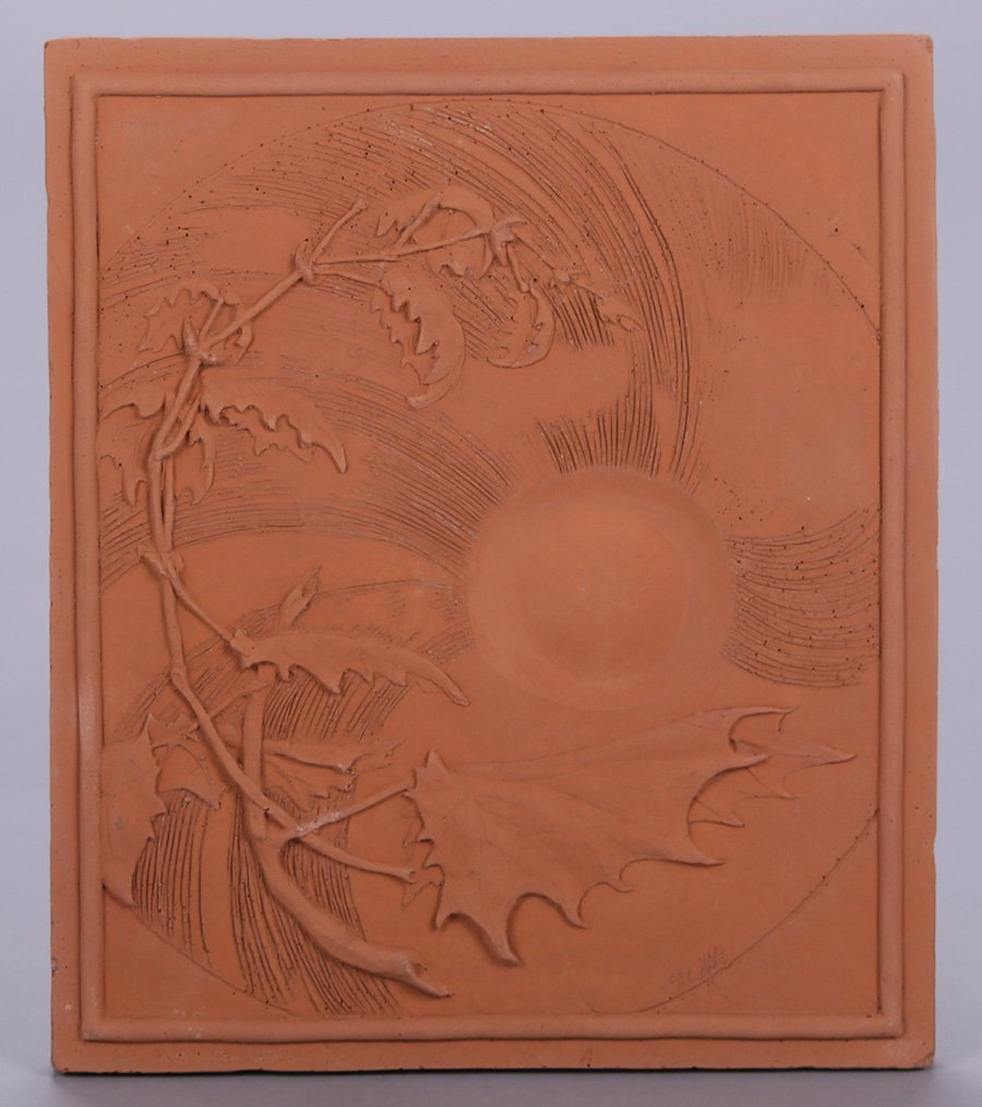 "Modernist Clay Tile ""Spring"""