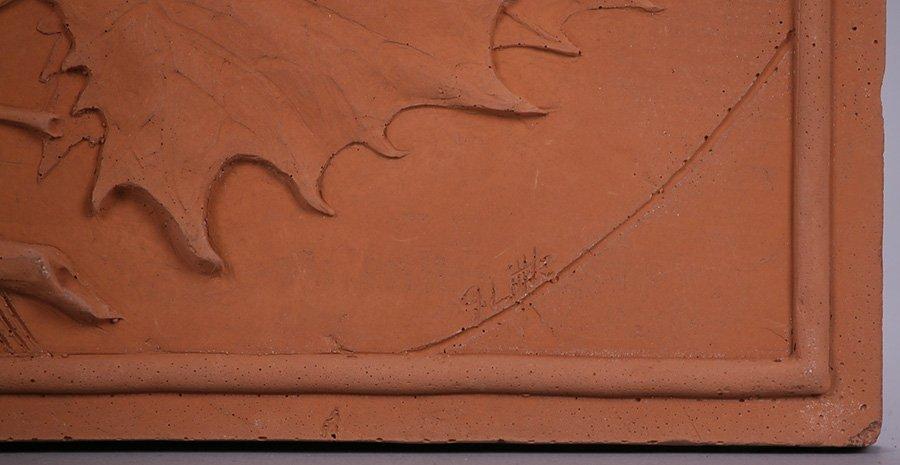 "Modernist Clay Tile ""Spring"" - 2"