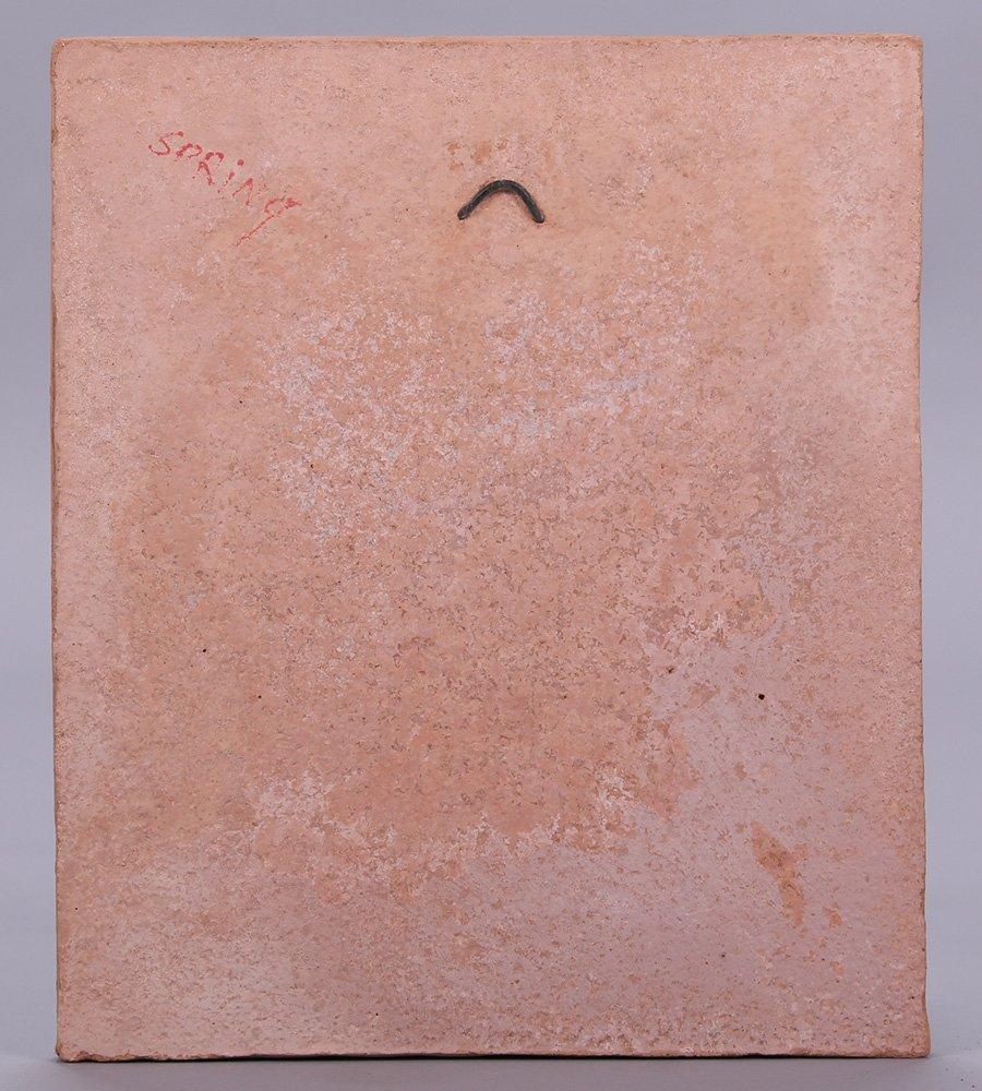 "Modernist Clay Tile ""Spring"" - 3"