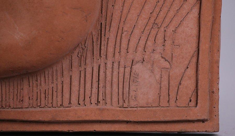"Modernist Clay Tile ""Earth"" - 2"