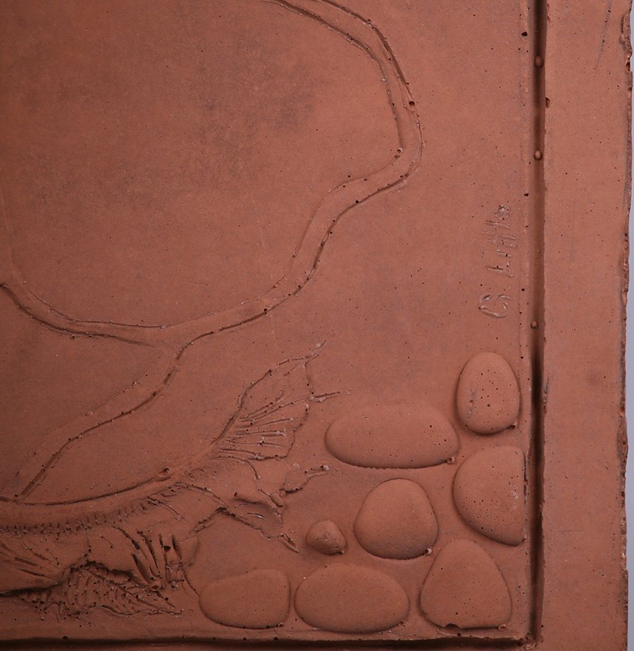"Modernist Clay Tile ""Air"" - 2"