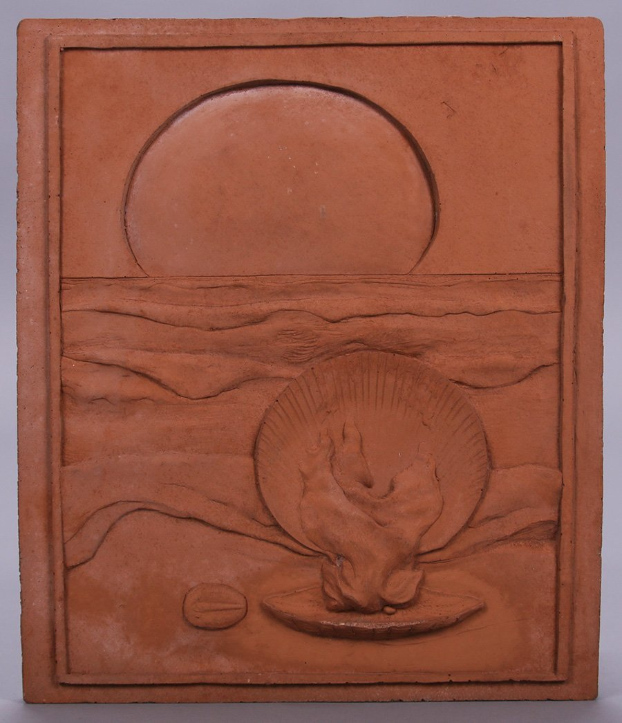 "Modernist Clay Tile ""Fire"""