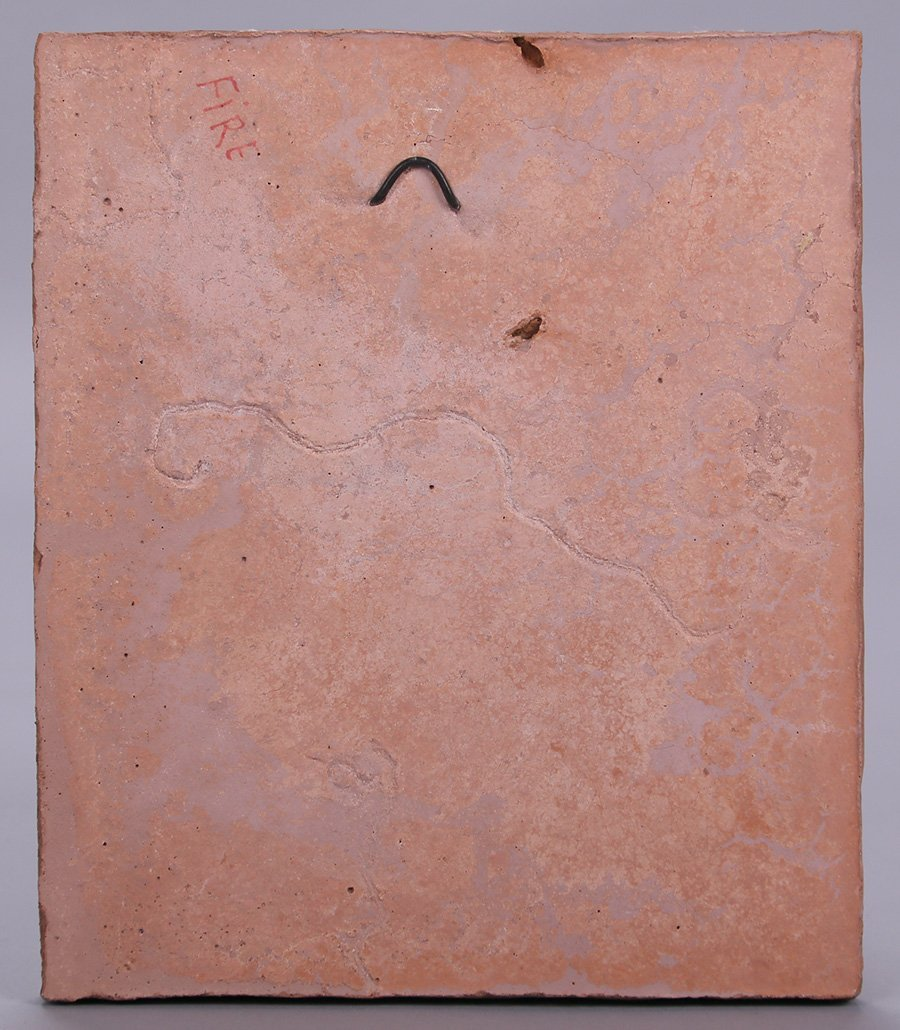 "Modernist Clay Tile ""Fire"" - 3"