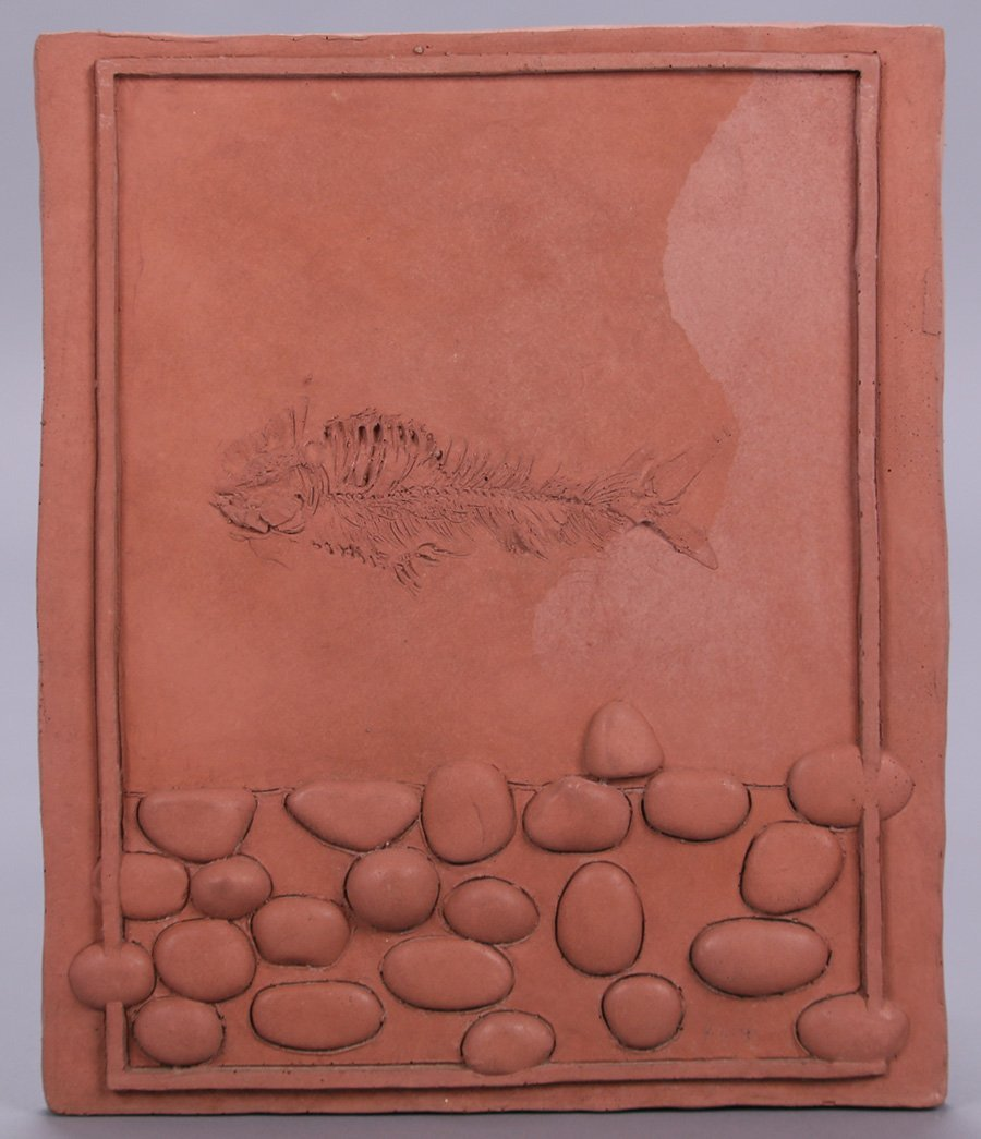 "Modernist Clay Tile ""Water"""