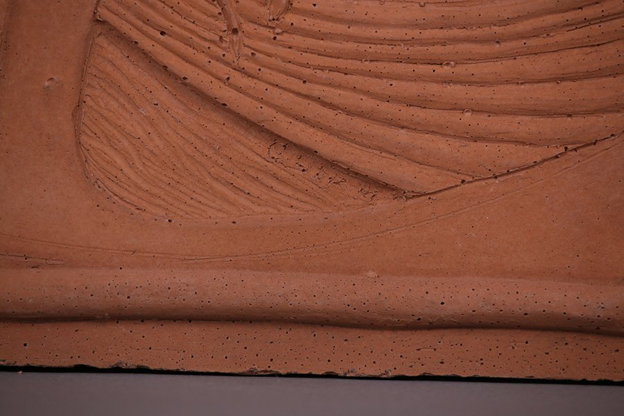 "Modernist Clay Tile ""Summer"" - 2"