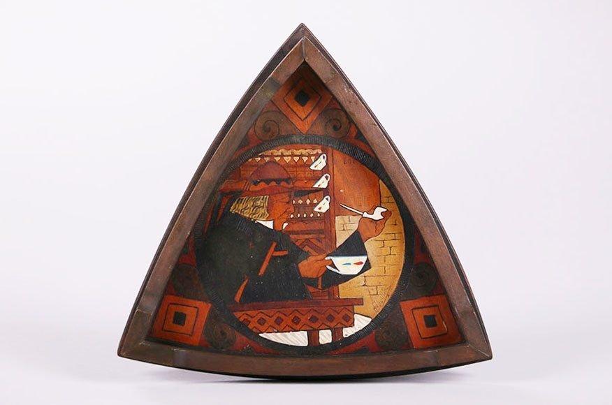 Dutch Arts & Crafts Inlaid Tray